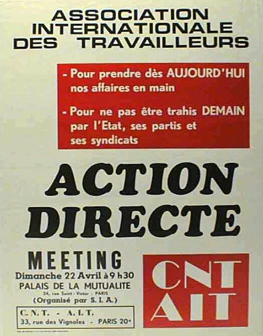 Action directe, meeting, palais de la Mutualité - 522 × 667 px