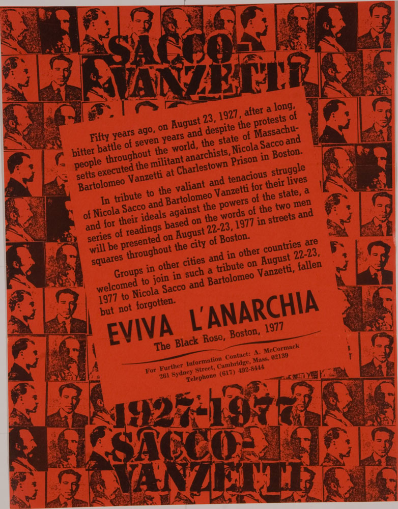 Sacco Vanzetti ; Fifty years ago... - 782 × 1000 px