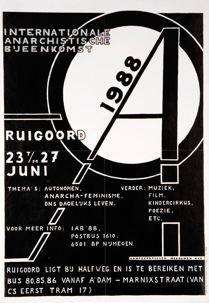 Internationale anarchistische bijeenkomst 1988 - 690 × 1000 px