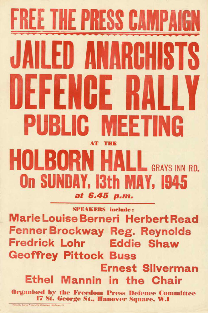 Jailed anarchists defence rally public meeting : Free the press campaign - 665 × 1000 px