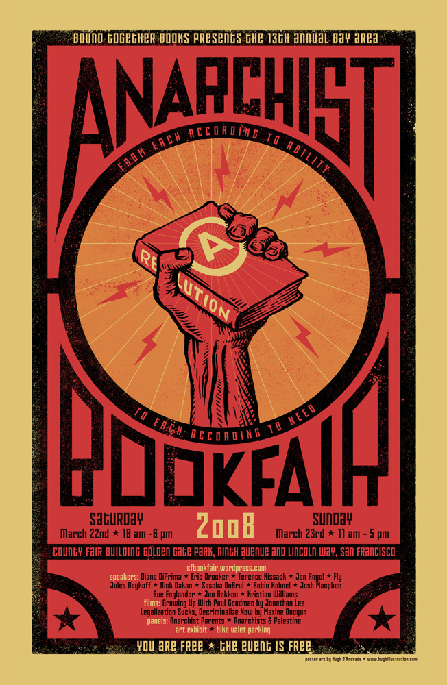Annual Bay Area anarchist bookfair, 13th - 652 × 1000 px