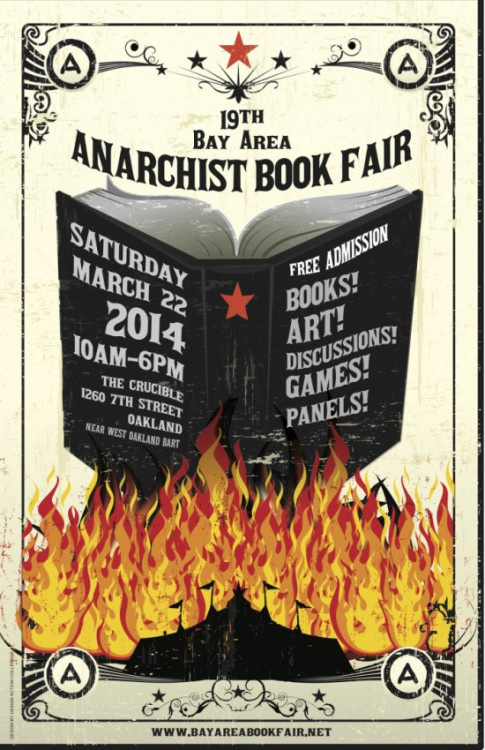 Annual Bay Area anarchist bookfair, 19th - 485 × 750 px