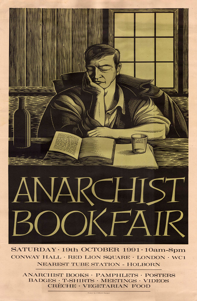 London anarchist bookfair 1991 - 653 × 1000 px