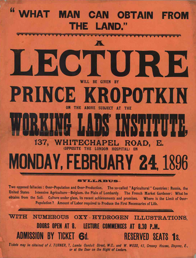 Lecture by prince Kropotkin : What man can obtain from the land - 759 × 1000 px