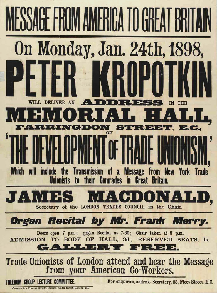Peter Kropotkin : the development of trade unionism - 739 × 1000 px