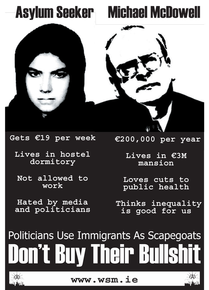 Politicians use immigrants as scapegoats : don't buy their bullshit - 722 × 1000 px