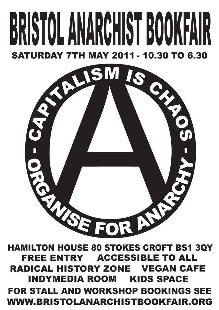 Bristol Anarchist Bookfair, 4th, 2011 : organise - 707 × 1000 px