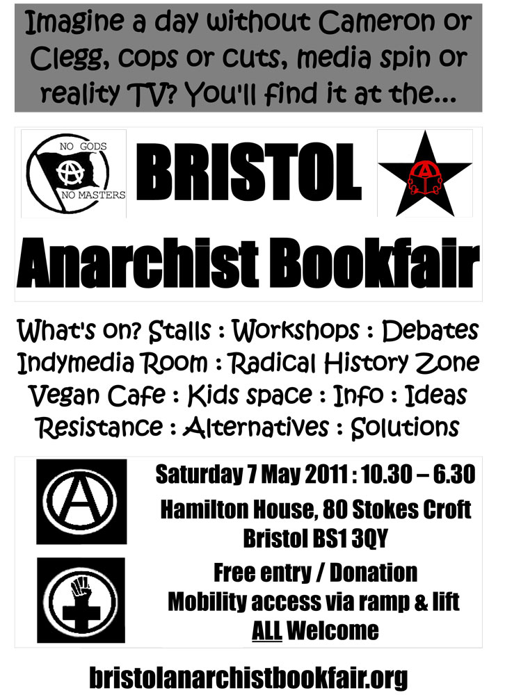 Bristol Anarchist Bookfair, 4th, 2011 : imagine a day - 749 × 1000 px