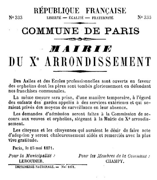 N° 333 - Commune de Paris - Mairie du Xe arrondissement - 549 × 626 px