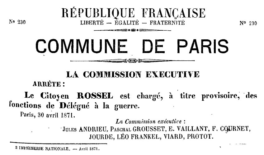 N° 230 - Commune de Paris - La Commission exécutive - 848 × 500 px