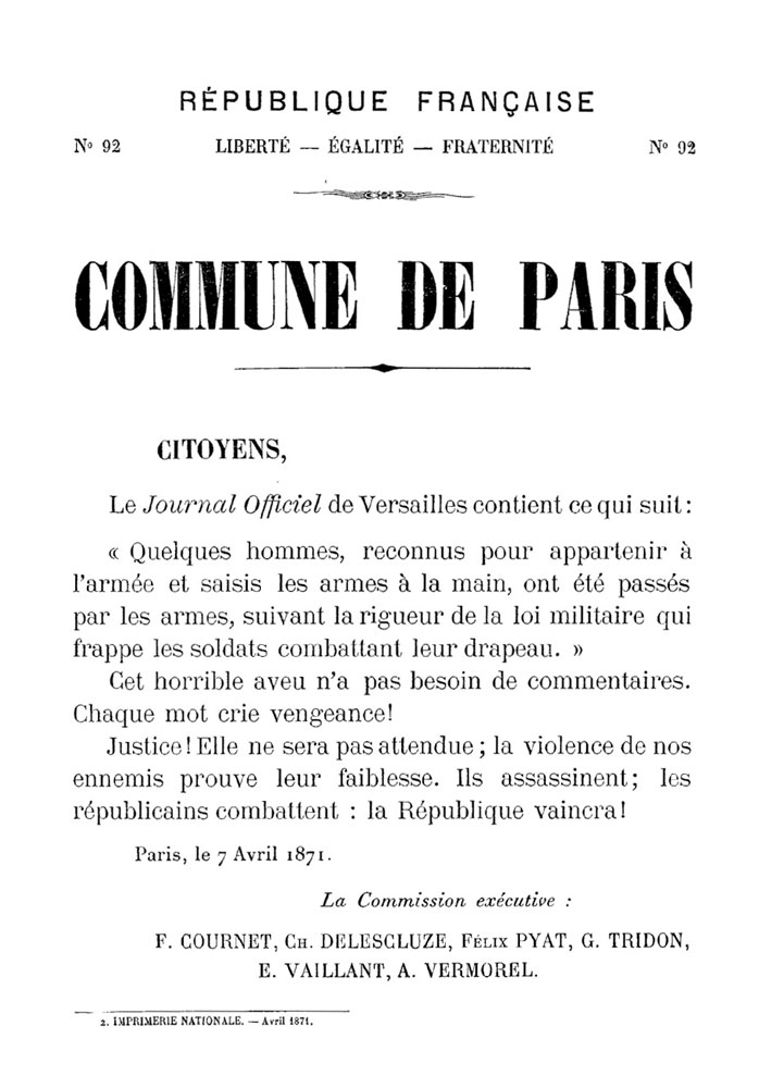 N° 92 — Commune de Paris - 698 × 1000 px
