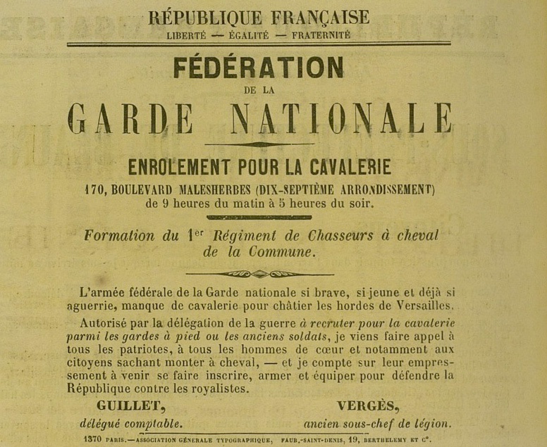 Commune de Paris — Fédération de la garde nationale - 776 × 635 px